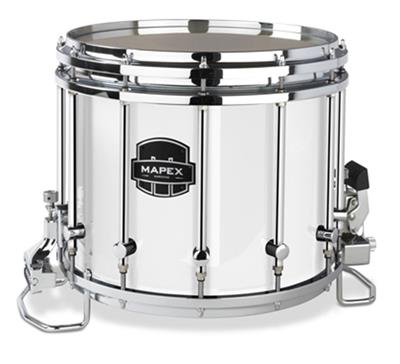 mapex quantum xt qcx1412s sw 14x12 marching snare drum white percussion source. Black Bedroom Furniture Sets. Home Design Ideas